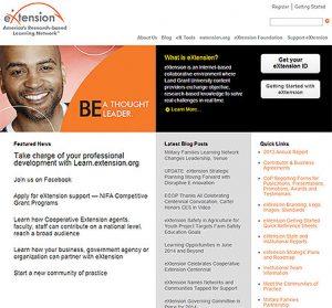 Snapshot of eXtension website
