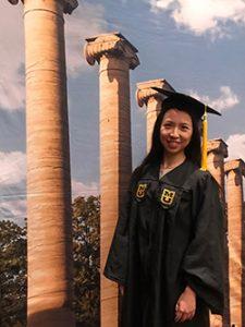 Yaqi Fang at graduation