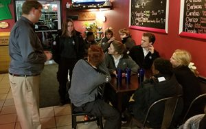 dinner with the AmeriCorps volunteers