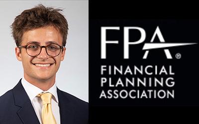 Conner Thompson beside FPA logo